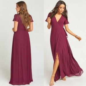 Show Me Your Mumu Sophia Wrap Dress Merlot